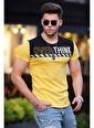 Madmext  Baskılı  Tişört 3080 Sarı